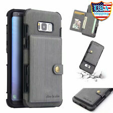 For Samsung Galaxy Note 9/8 S9/S8+ Plus Leather Case w/ Card Slot Stand Cover