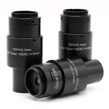 Adjustable 0.5X Reduction Lens Microscope C-mount Eyepiece 23.2mm Reticle Scale