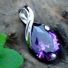 Teardrop Crystal Necklace Pendant for Jewelry Making Natural Gemstone Amethyst