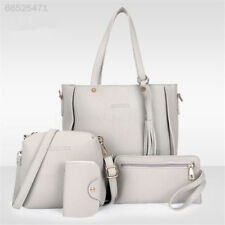 2C0C 4pcs Women Leather Handbag Lady Shoulder Bags Tote Purse Messenger Satchel