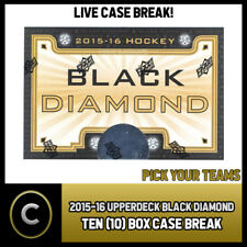 2015-16 UPPER DECK BLACK DIAMOND 10 BOX MASTER BREAK #H049 - PICK YOUR TEAM -