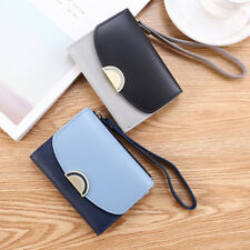 Women PU Leather Simple Short Wallet Coin Purse Female Card Holder Daily Use