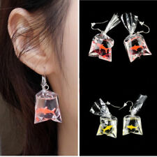 1 Pair2 Pairs Novelty Women Resin Unique  Water Bag Shape Dangle Hook Funny