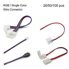 2Pin/4-Pin Power Connector Adaptor For Led Strip Wire 5050 RGB Strip Wire 10mm