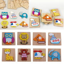 3D Animal Puzzle Children Wooden Jigsaw Puzzle Toy