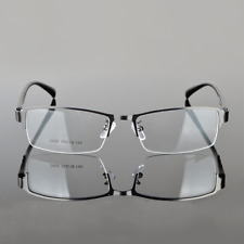Designer Metal Half Rimless Eyeglass Frames Mens Glasses Spectacles Optical Rx