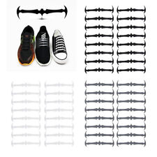 16pcs Kids Adults Silicone Bat Shoelaces Lazy Easy No Tie Elastic Shoe Laces