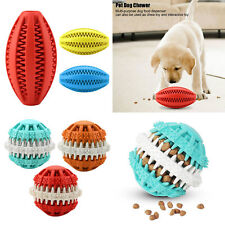 Food Dispenser Squeaky Ball Sound Chewing Pet Dog Treat Training Feeder Toy