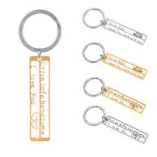 Trucker Key Chains Hollow Out Drive Safe Handsome Keyring Stainless Steel
