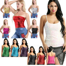 Summer Women Ladies Crop Tops Shirt Sleeveless Tube Tank Top Vest Blouse Rave