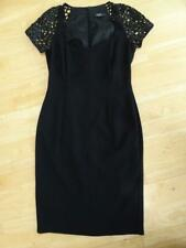 HOLLY WILLOUGHBY ladies black lace sleeve shift dress UK 10 EXCELLENT COND