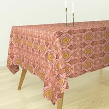 Tablecloth Spring Pink Brocade Floral Holli Zollinger Cotton Sateen