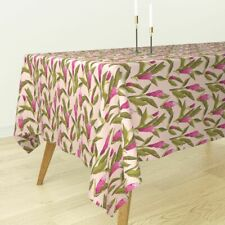 Tablecloth Ginger Floral Flower Tropical Pink Holli Zollinger Cotton Sateen