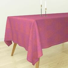 Tablecloth Geometric Pink Orange Holli Zollinger Cotton Sateen