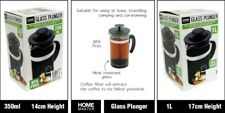 Glass Plunger French Press Coffee Tea Maker Filter Home Camping
