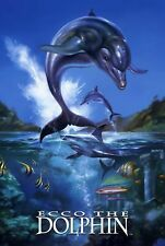 187756 Ecco the Dolphin Megadrive Mega CD Game Gear Wall Poster Print Plakat