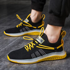 Men's Personality Flyknit Sneakers Casual Sports Running Shoes Mesh Breathable