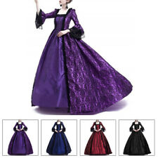 Womens Victorian Royal Retro Ball Gown Wedding Party Dress Medieval Costume