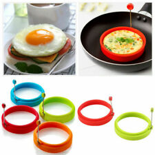 Silicone Round Egg Rings Pancake Mold Ring W Handles Frying Fried Nice Nons Y4E6