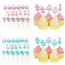 18PC Baby Shower Cupcake Toppers Kids Favors Party Birthday Cake Card Decor Fun