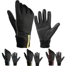 Men Women MTB Cycling Bicycle Bike Motorcycle Offroad Fleece Full Finger Gloves
