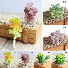 1PC Artificial Succulent Plants Unpotted Fake Cactus Flocked Stems Home Decor