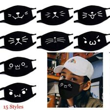 Unisex Cotton Dustproof Mouth Mask Fashion Black Mouth Respirator Face Mask