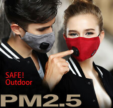 Unisex Anti Dust Cold Fog Face Protective with Filter Reusable Breathable
