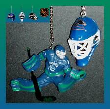 NHL VANCOUVER CANUCKS GOALIE MASK & ROBERTO LUONGO FIGURE CEILING FAN PULLS