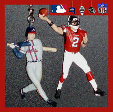 MLB ATLANTA BRAVES CHIPPER JONES & NFL FALCONS RYAN OR VICK FIGURES FAN PULLS