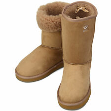 Light Brown Shearling Womens Winter Snow Warm Boots