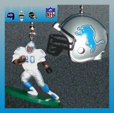 NFL DETROIT LIONS BARRY SANDERS FIGURE & CHOICE OF FOOTBALL HELMET FAN PULLS