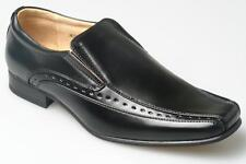 Mens black leather lined shoes gents  6 7 8 9 10 11 12