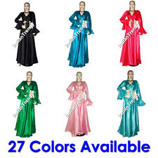 27Colr Satin Skirt Ruffle Top Choli Belly Dance Costume
