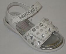Lelli Kelly 8489 Bucaneve White Beaded Sandals shoe NEW Open Toe Velcro Easter