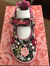 Lelli Kelly LK9403 Milly Baby Black mary jane shoes NEW Dolly Hand Beaded Tennis