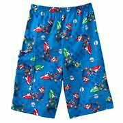 Super Mario Bros☆Kart Wii Blue lounge shorts☆Boys 4-12