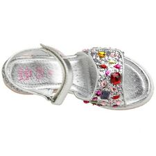 Lelli Kelly VF1380 Begonia Sandals Shoes Silver LK8621 Hand Bead Jeweled Sparkle
