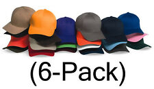 New Flexfit Hat Fitted Blank Baseball Cap 6-pack, 6277