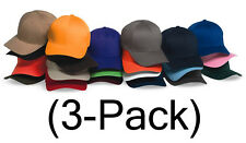 New Flexfit Hat Fitted Blank Baseball Cap 3-pack, 6277