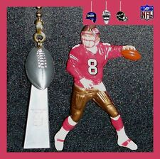 NFL SAN FRANCISCO 49ERS STEVE YOUNG FIGURE & LOMBARDI TROPHY CEILING FAN PULLS