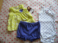 CARTERS 3 PIECE BABY GIRLS OUTFIT GREEN PURPLE HORSE