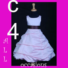 QUINCEANERA DRESS PAGEANT PINK-BROWN 4 6 8 10 12 14/15
