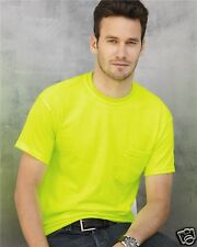 Gildan Ultra Cotton T-Shirt with Pocket T-Shirt 2300 S-5XL Safety Yellow Orange
