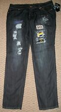 NWT DEREON DISTRESSED SKINNY JEANS PLUS 14 16 18 20 24