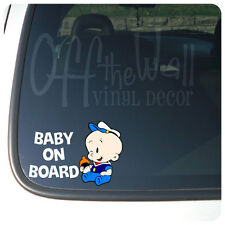 "Baby Popeye ""BABY ON BOARD"" Vinyl Car Decal Sticker"