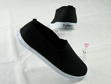 Raben Shoes - Black (White Sole) - All Sizes From 28-46