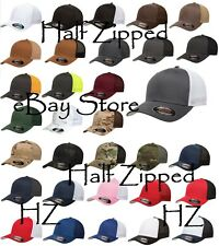 Flexfit Trucker Cap Fitted Mesh Hat 6511 Baseball Hat - One Size - NEW 17 Colors
