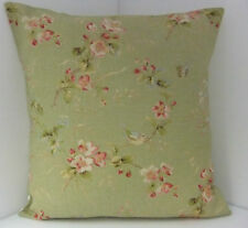 SINGLE VINTAGE STYLE SAGE GREEN BLUE BIRD CUSHION COVER