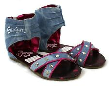 Girls Hello Kitty Arcade Denim Sandals Shoes Sizes 10-2